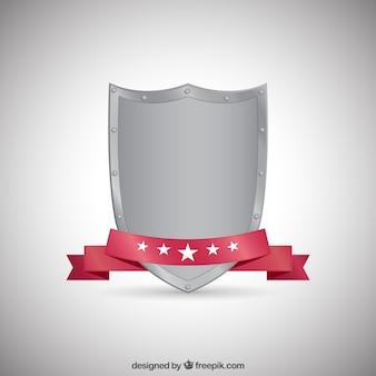 Metallic medieval shield