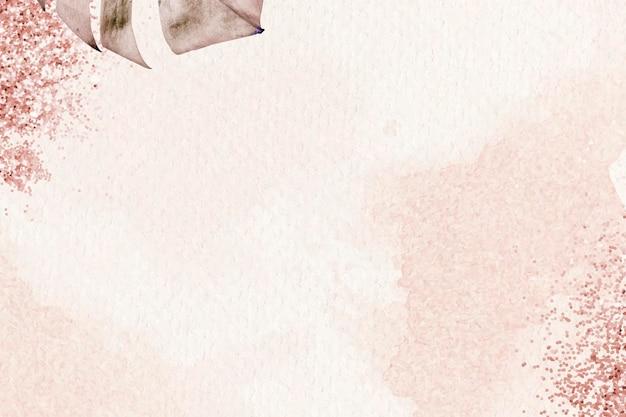 금속 몬스테라 잎 패턴 배경 벡터