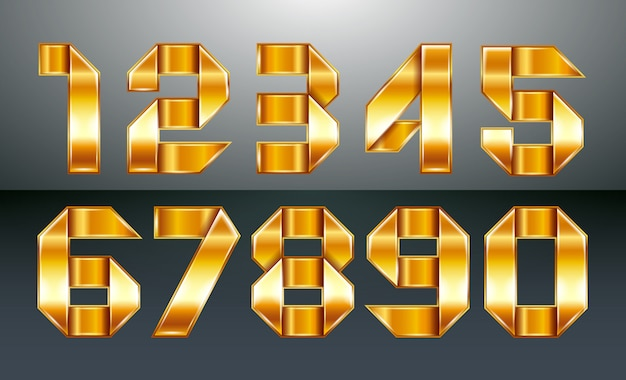 Metallic numbers folded from a golden ribbon
