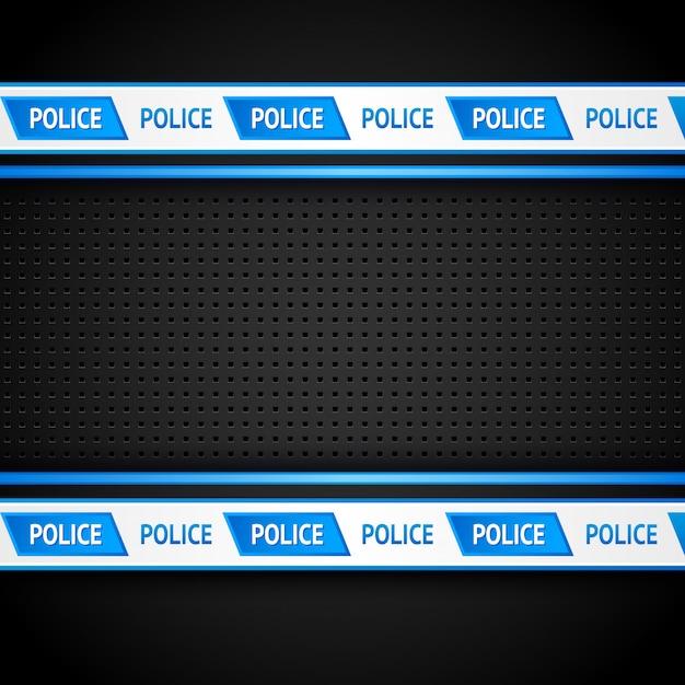 Metallic perforated black sheet, police background