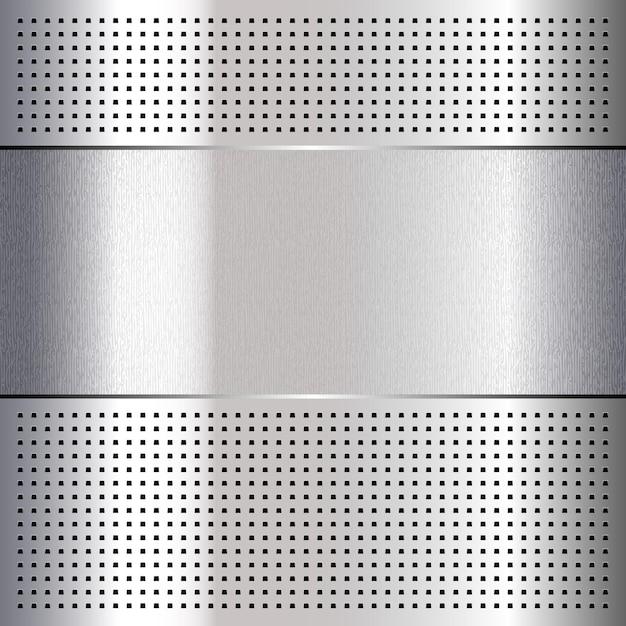 금속 천공 크롬 강판 배경