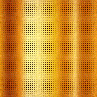 Металлический перфорированный золотой лист