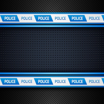 Metallic perforated police background