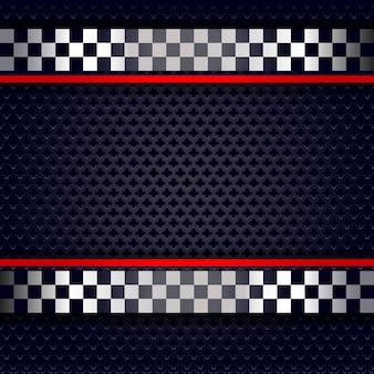レース用の金属穴あきシートの背景