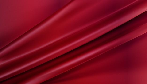 Металлическая розовая шелковистая ткань абстрактный фон 3d иллюстрация реалистичный закрученный текстиль