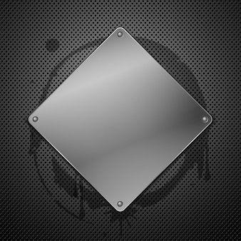 Metallic plaque for signage illustration