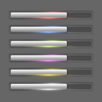 Metallic progress bars collection