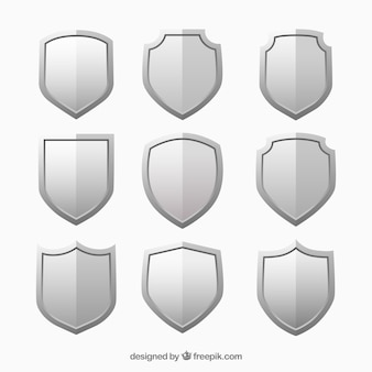Metallic shields set