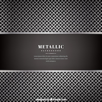 Metallic silver and black background