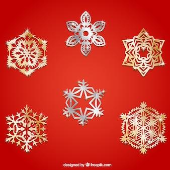 Metallic snowflakes collection