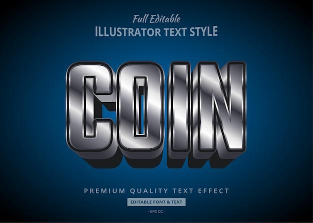 Metallic style  text style effect