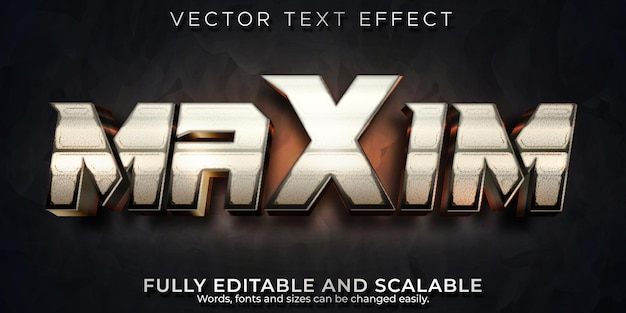Metallic text effect, editable cinema and gaming text style