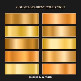 Metallic texture gold gradient set