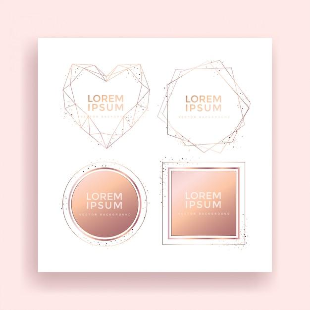 Metallic texture rose gold frame sets