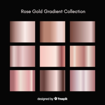 Metallic texture rose gold gradient set