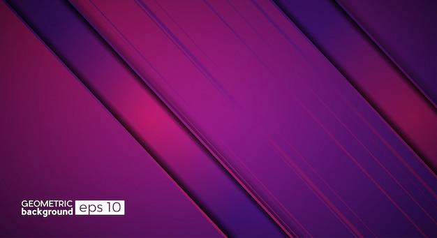 紫とピンクの斜めバンドと金属のベクトルの背景。動きと革新の概念