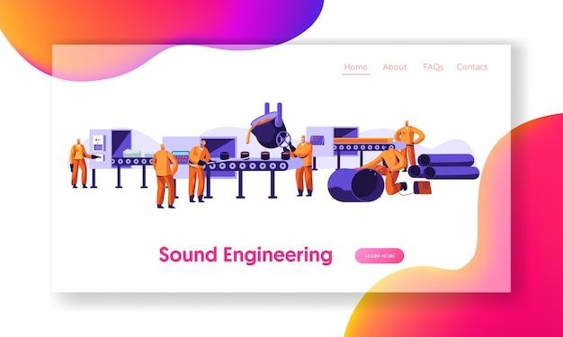 야금 산업 작업 프로세스 랜딩 페이지 템플릿