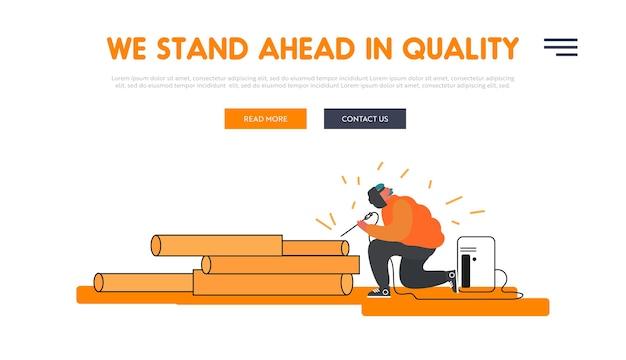 Metallurgy processing website landing page.