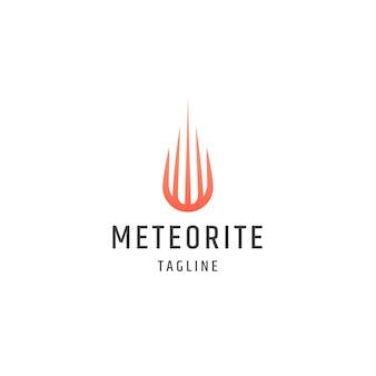 Meteorite logo icon design template flat vector