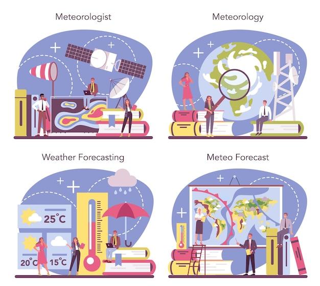 Meteorologist concept set