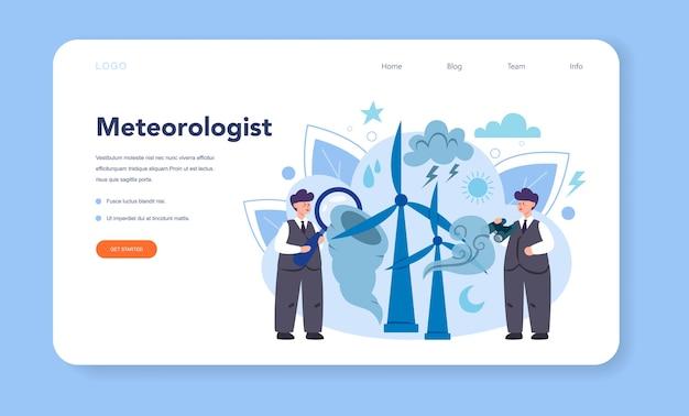 Meteorologist web banner or landing page