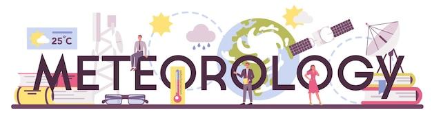 Meteorology typographic header