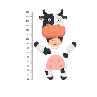 Meter wall with cow costume