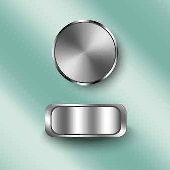 Metral texture on button