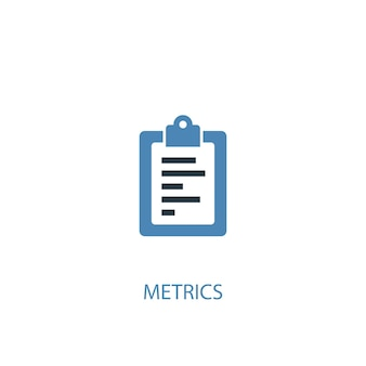 Metrics concept 2 colored icon. simple blue element illustration. metrics concept symbol design. can be used for web and mobile ui/ux