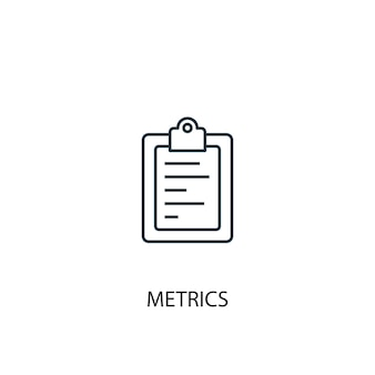 Metrics concept line icon. simple element illustration. metrics concept outline symbol design. can be used for web and mobile ui/ux