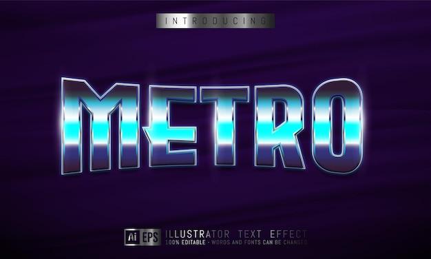 メトロテキスト効果、編集可能な3dテキストスタイル