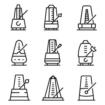 Metronome icons set