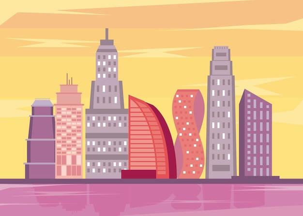 대도시 건물 도시 풍경