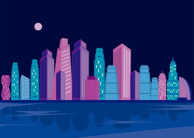 대도시 건물 야경