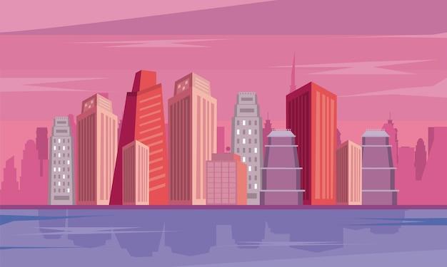대도시 건물 현장