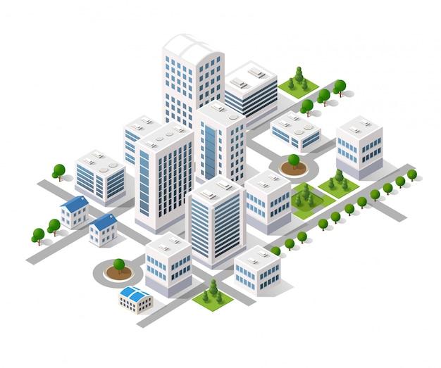 Metropolis city quarter with