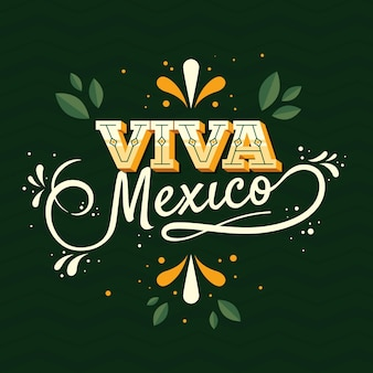 Mexic independence day lettering