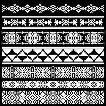 Mexican, american tribal art decor vector