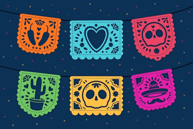 Mexican bunting collection concept