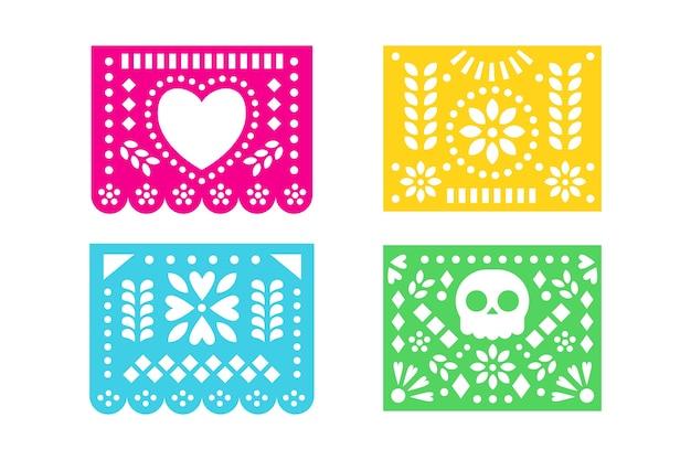 멕시코 깃발 천 컬렉션 개념