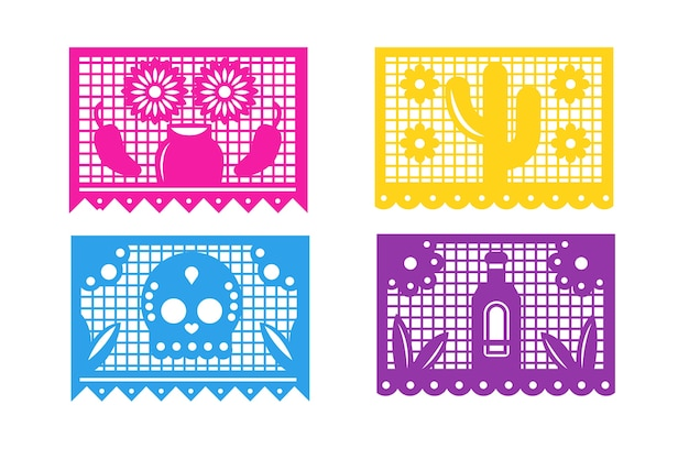 멕시코 깃발 천 컬렉션 디자인