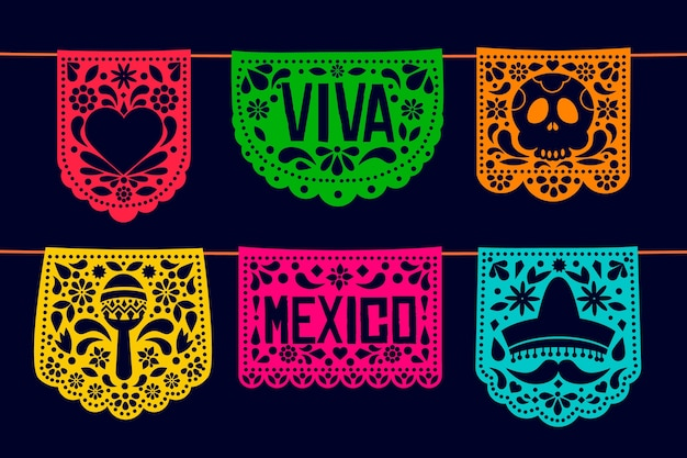 Mexican bunting collection style