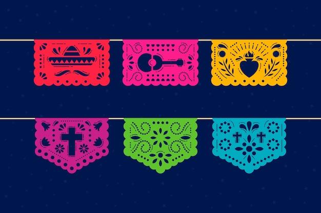 멕시코 깃발 천 컬렉션 테마