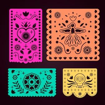 メキシコの旗布コレクション