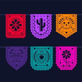 멕시코 깃발 천 모음
