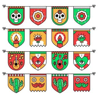 멕시코 깃발 천 팩