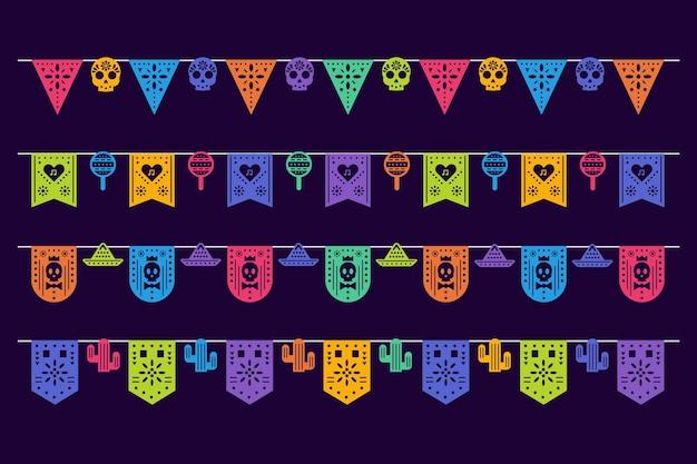멕시코 깃발 천 세트