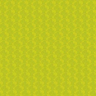 Мексиканский узор кактуса и зеленый фон дизайн.