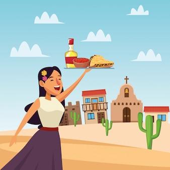 メキシコ漫画の女性