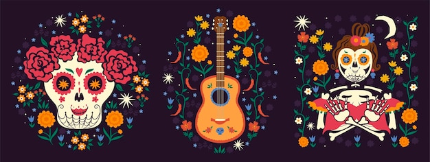 Mexican collection of compositions in the mood of the day of the dead.
